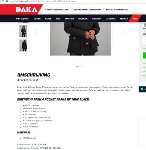 Oneerlijke informatie: jas met echt bont is 100% polyester