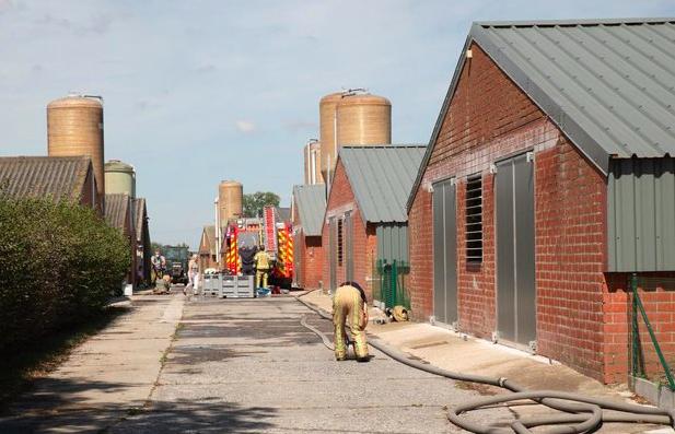 45 brandweermannen kwamen ter plaatse om de brand te blussen Foto: KW