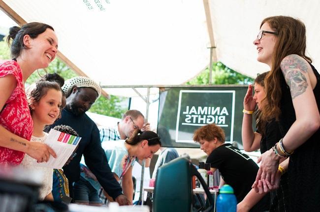 Veel interesse voor Animal Rights tijdens een festival in Rotterdam
